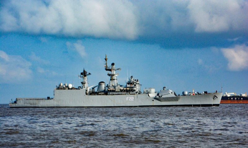 Indian Naval Ship Ganga enters the Mumbai Harbour after completing her final operational deployment on May 28, 2017. The ship is likely to be decommissioned before the end of the year, after ...
