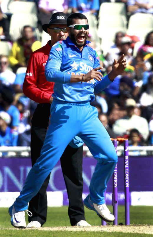 Indian player Ravindra Jadeja during 4th ODI match between England and India in Birmingham, England on Sept 2, 2014. - Ravindra Jadeja