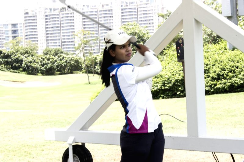 :Indian Professional lady golfer Vani Kapoor. (File Photo: IANS).