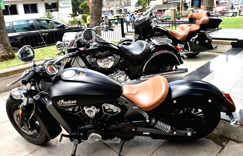 Indian Scout Sixty motorcycles launched in Bengaluru, on Aug 10, 2016.