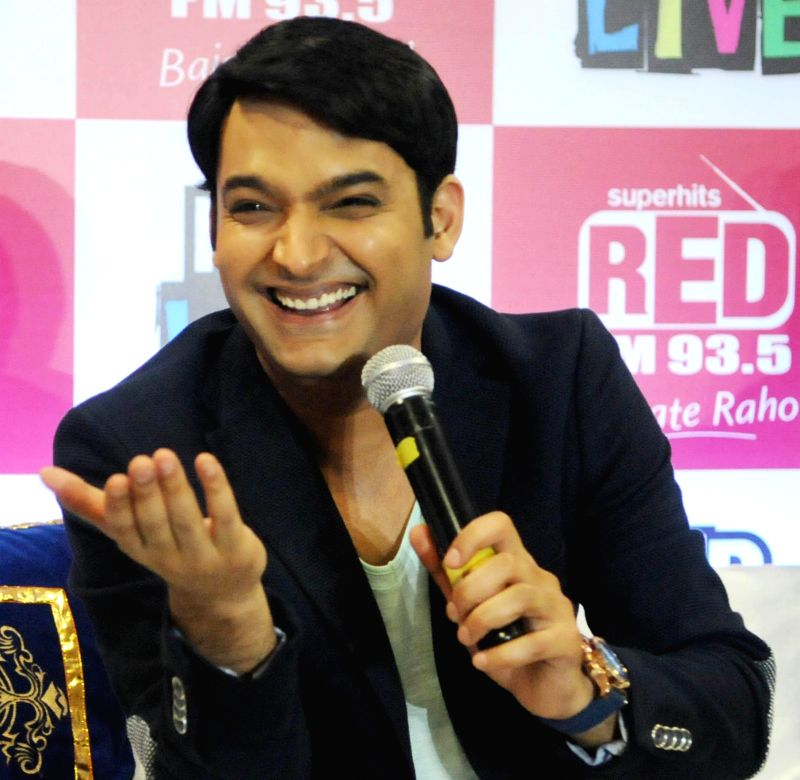 Indian stand-up comedian Kapil Sharma during a press conference in New Delhi on July 6, 2014.