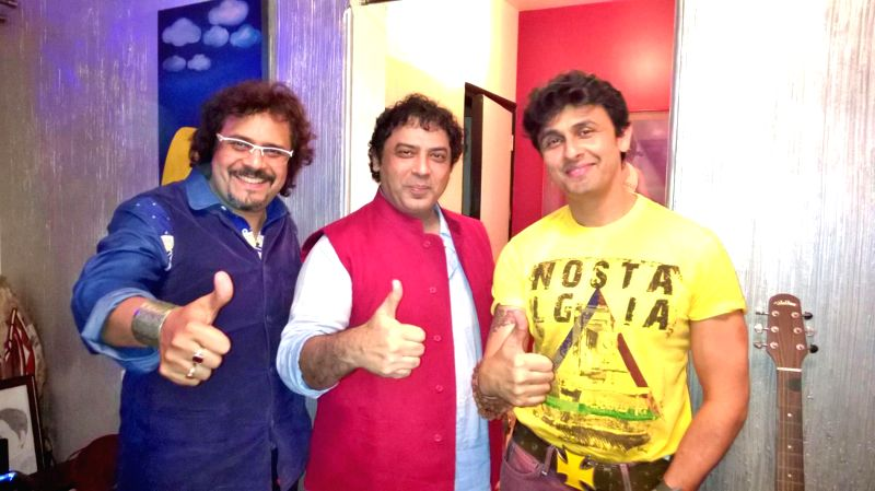 Indian tabla player Bickram Ghosh, filmmaker Girish Malik and singer Sonu Nigam get together after their National Award winning film `Jal` has found a place in the Oscar contenders of 2014 in two ...