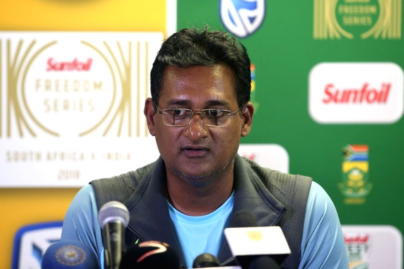 Sunil Subramanian addresses a press conference