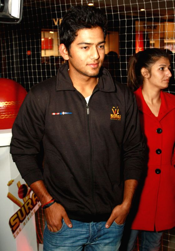 Indian Under-19 Captian Unmukt Chand  at a promotional event of Colors TV serial ''Suraj'', in New Delhi. (Photo : IANS)