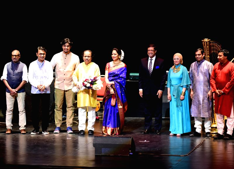 "Indian violinist Dr. L. Subramaniam during ""Concert for Peace"" - part of the fifth edition of 'India by the Nile' cultural festival at Cairo Opera House in Cairo, Egypt on April ..."