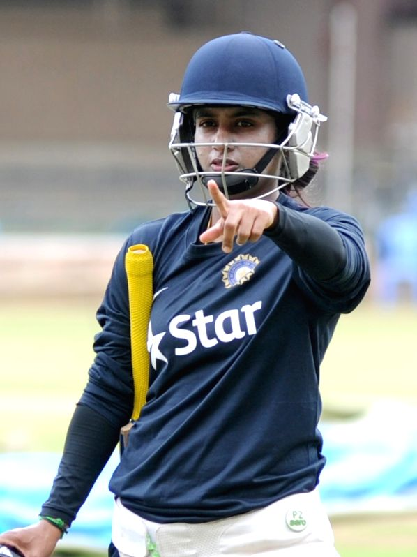 Indian women cricket captain Mithali Raj during the practice session at the M Chinnaswammy Stadium in Bengaluru on June 30, 2015. - Mithali Raj
