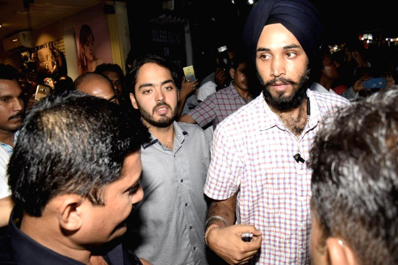 Industrialist Mukesh Ambani's son, Anant Ambani arrives to attend a programme organised to celebrate Friendship Day in Mumbai's Bandra on Aug 5, 2018. - Mukesh Ambani and Anant Ambani