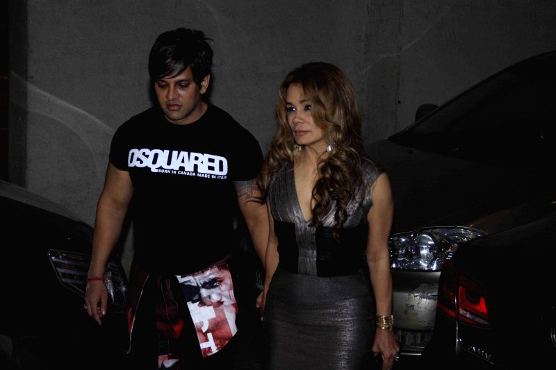 Industrialist Yash Birla with his wife Avanti, during the birthday party of Fashion designer Manish Malhotra in Mumbai, on Dec 6, 2014.