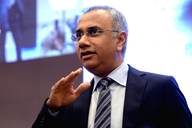 Infosys  Managing Director and Chief Executive Officer Salil Parekh addresses a press conference organised to announce results of first quarter of fiscal 2018-19, in Bengaluru, on July 13, ...