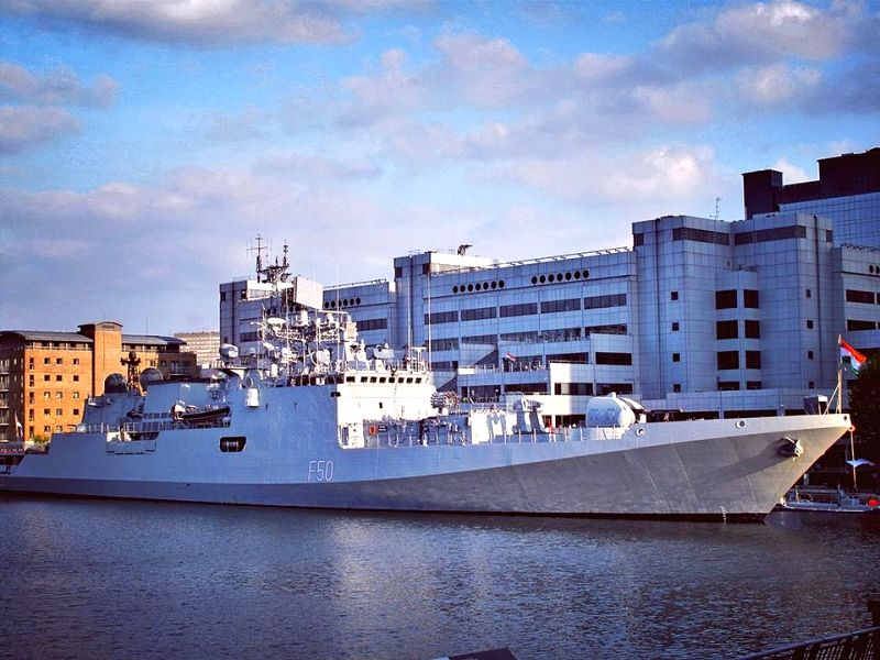 INS Tarkash docked in London.