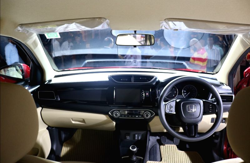 Interiors of  the newly launched  Honda Amaze, at a launch programme in New Delhi on May 16, 2018.