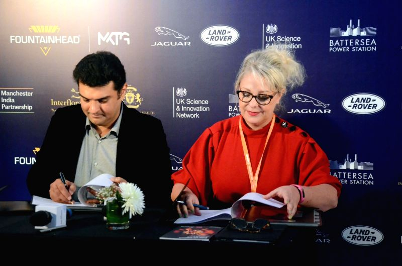 International Strategy at Pact (Producers Alliance for Cinema and TV) Director Dawn McCarthy-Simpson with producer Siddharth Roy Kapur during an MoU signing ceremony at the India-UK Createch ... - Siddharth Roy Kapur