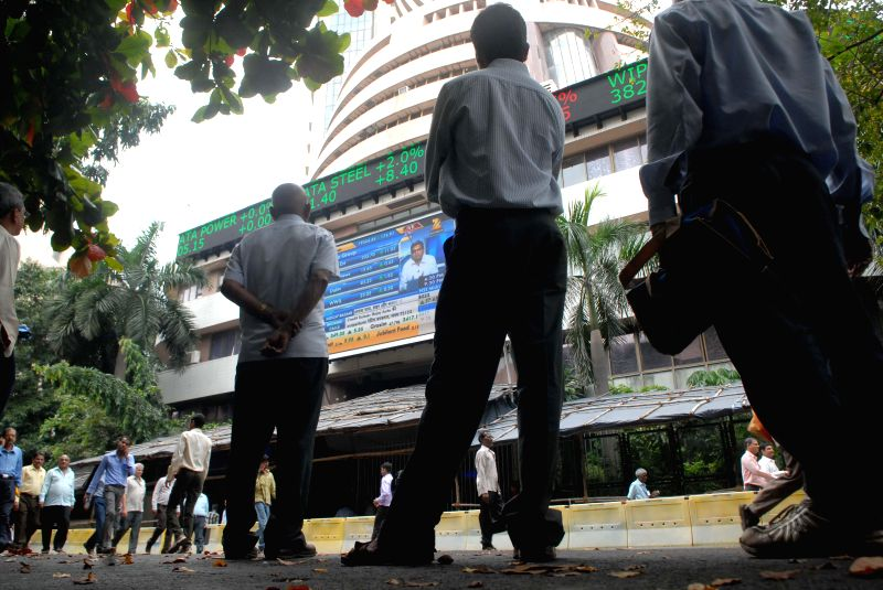 Investors react as Sensex - a benchmark index of Indian equities markets plunged 855 points or three percent-plus in Tuesday's trade session, in Mumbai on Jan 6, 2015.Market analysts opined that the .