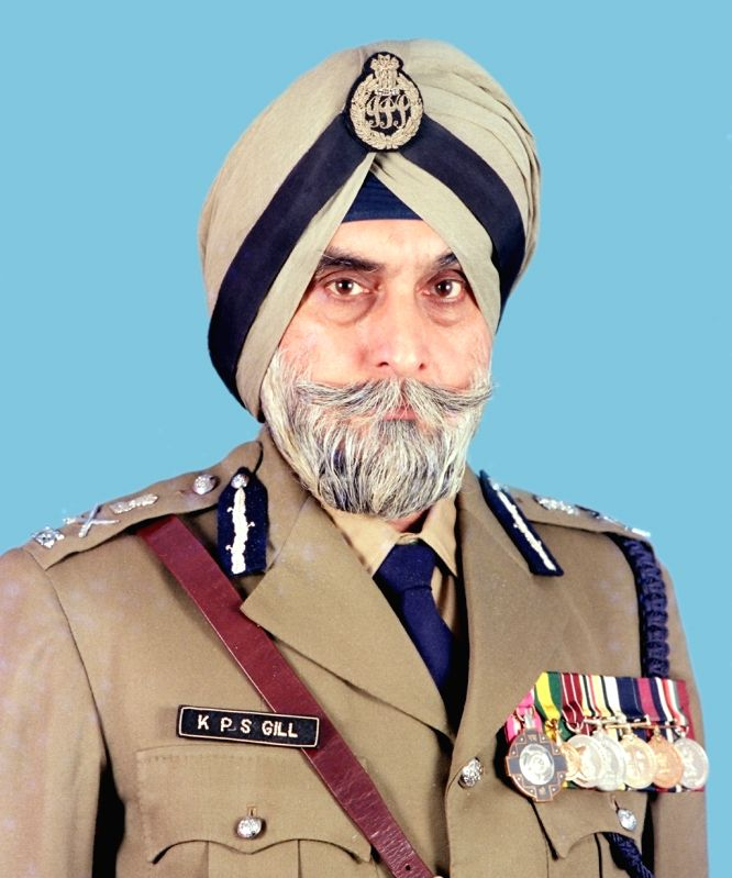 IPS officer K.P.S. Gill, who is credited with decisively stamping out militancy in Punjab, as state police chief in the early 1990s