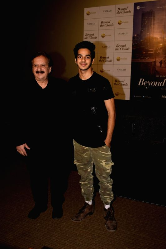 """Iranian filmmaker Majid Majidi and actor Ishaan Khatter at the trailer launch of their upcoming film """"Beyond the Clouds"""" in Mumbai on Jan 29, 2018. - Ishaan Khatter"""