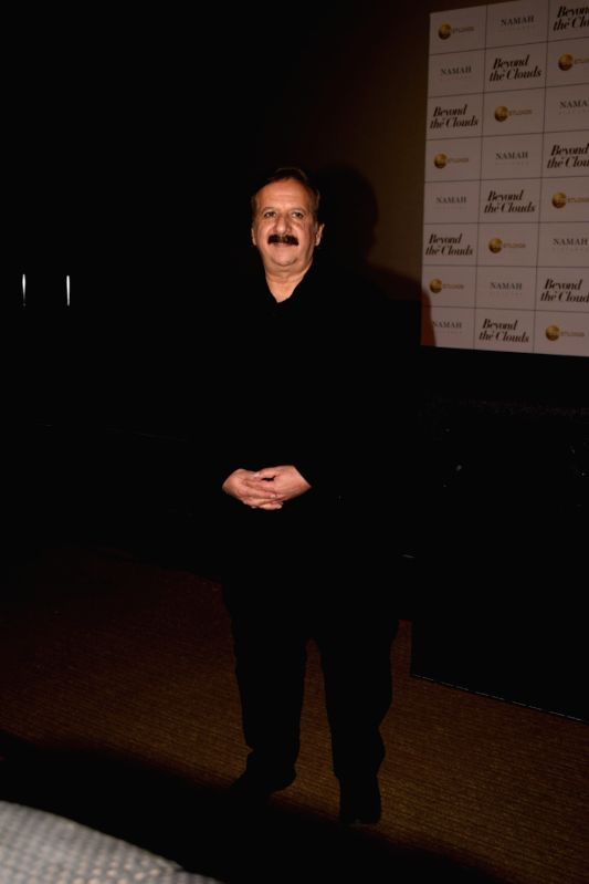 "Iranian filmmaker Majid Majidi at the trailer launch of his upcoming film ""Beyond the Clouds"" in Mumbai on Jan 29, 2018."
