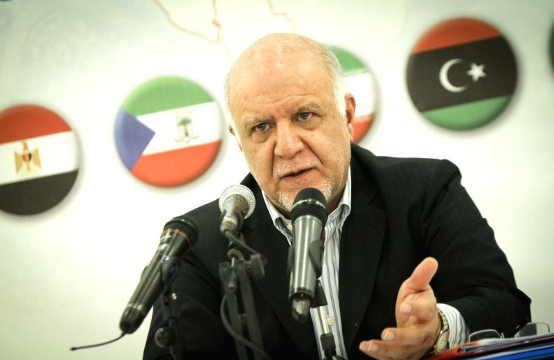 Iranian Oil Minister Bijan Namdar Zangeneh speaks during a press conference on the sidelines of a ministerial meeting of the Gas Exporting Countries Forum (GECF), in ... - Bijan Namdar Zangeneh
