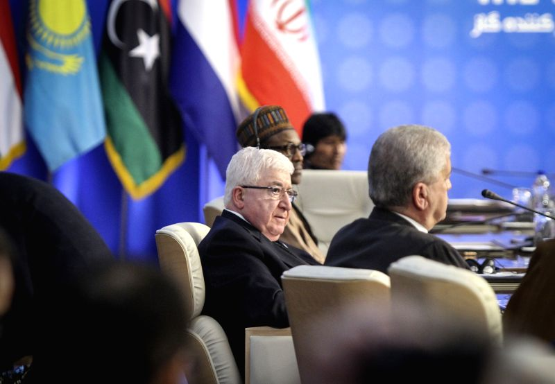 Iraqi President Fuad Masum attends the third summit of the Gas Exporting Countries Forum (GECF) in Tehran, Iran, on Nov. 23, 2015. The GECF is a gathering of the ...