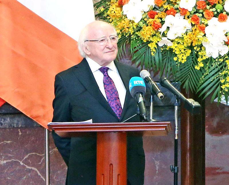 Ireland President Michael Daniel Higgins. (File Photo: IANS)