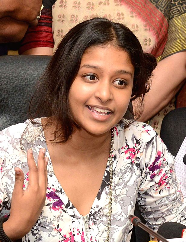 ISC topper Ananya Maity, who scored 99.5 per cent marks, in Kolkata on May 29, 2017.