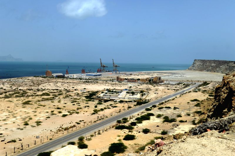 Photo taken on Aug. 18, 2014 shows a view of Gwadar Port in Balochistan province, Pakistan. Gwadar Port is a warm-water, deep-sea port situated on the Arabian Sea
