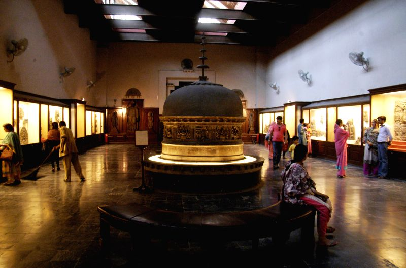 People visit Lahore Museum in eastern Pakistan's Lahore on May 17, 2014. Lahore Museum is one of the major museums of South Asia which collects a number of ...