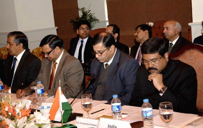 Islamabad : The Union Minister of State for Petroleum and Natural Gas (Independent Charge) Dharmendra Pradhan attends the 20th Steering Committee meeting of TAPI natural gas pipeline project, in ...