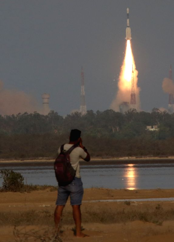 ISRO's Geosynchronous Satellite Launch Vehicle (GSLV-MkII) rocket carrying the South Asia satellite or GSAT-9 lifts-off from Satish Dhawan Space Centre in Sriharikota of Andhra Pradesh  ...