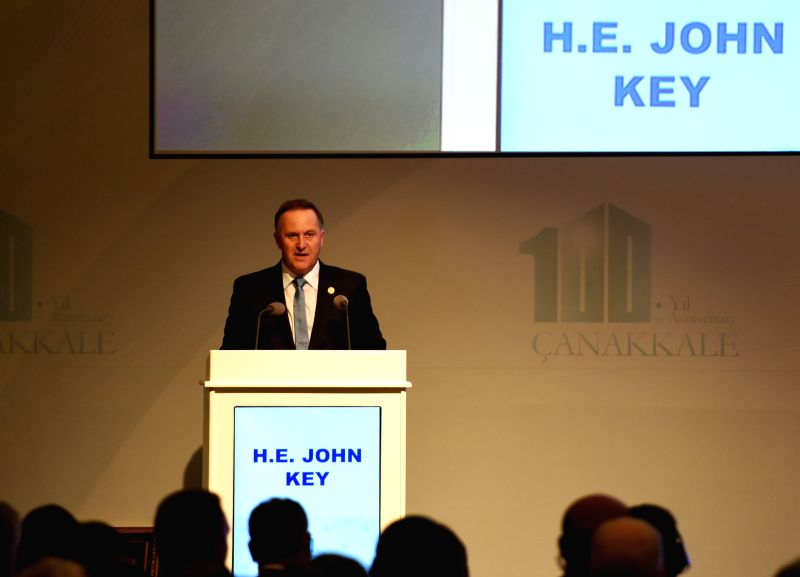 New Zealand Prime Minister John Key addresses the Peace Summit and Commemoration Ceremonies of the 100th Anniversary of Canakkale Land and Sea Battles in ... - John Key