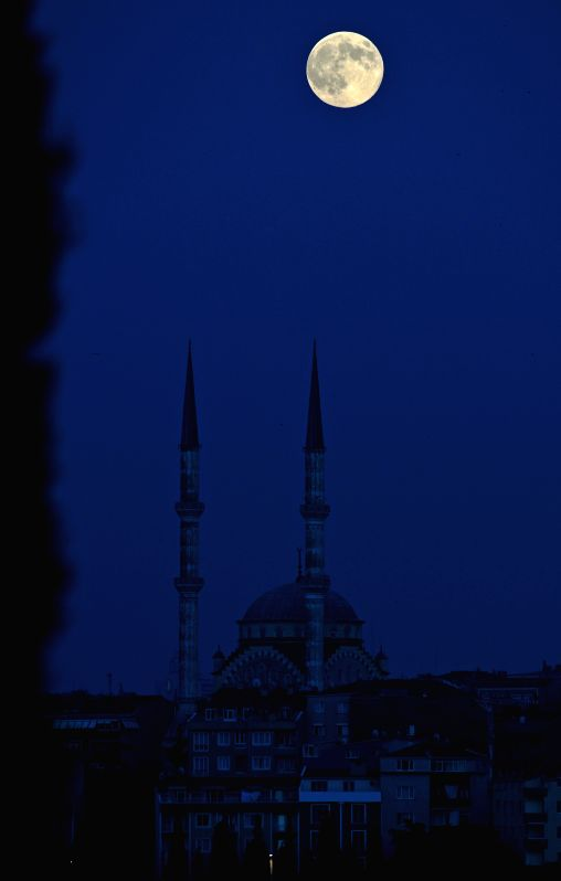 "The ""supermoon"" is seen over Istanbul, Turkey on Aug. 10, 2014. The ""supermoon,"" technically known as ""perigee moon,"" appears when ..."