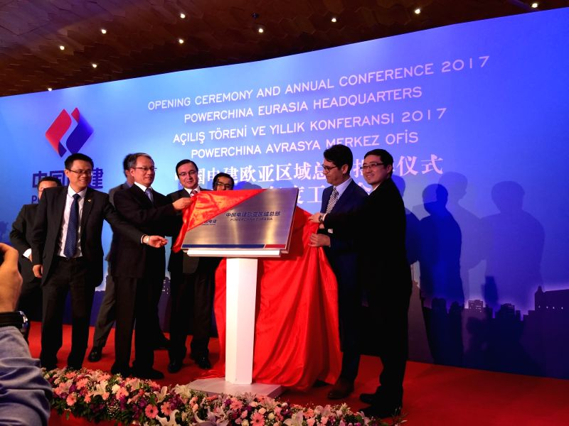 ISTANBUL, May 23, 2017 - Guests inaugurate PowerChina Eurasia headquarters in Istanbul, Turkey, on May 23, 2017. The Power Construction Corporation of China on Tuesday marked the opening of its ...