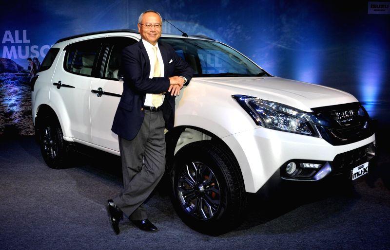 Isuzu Motors India Deputy Managing Director Hitoshi Kono at the launch of  Isuzu MU-X in Kolkata, on May 25, 2017.