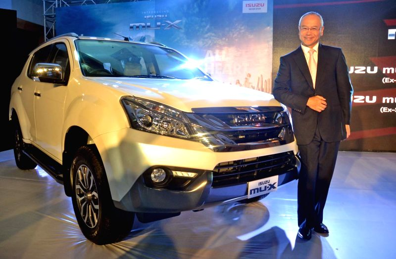 Isuzu Motors Managing Director Hitoshi Kono at the launch of Isuzu MU-X SUV during a press conference in Bengaluru, on May 19, 2017.