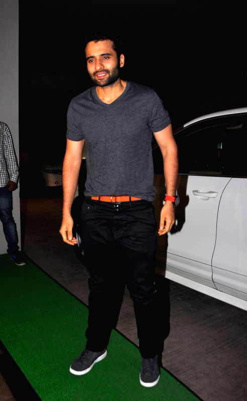 Jackie Bhagnani during the special screening of film Humshakal at Lightbox in Mumbai on Thursday, June 19, 2014.