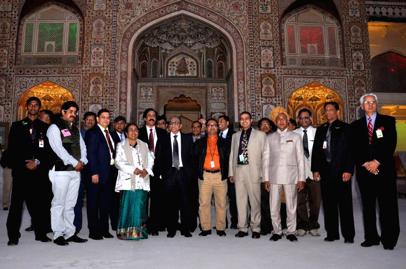 Bangladesh President Md. Abdul Hamid during his visit to the Amber Fort, near Jaipur on Dec 21, 2014.