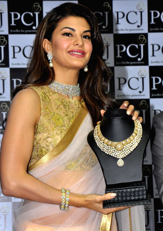 Bollywood actress Jacqueline Fernandez during a promotional event in Jaipur on Feb. 1, 2015.