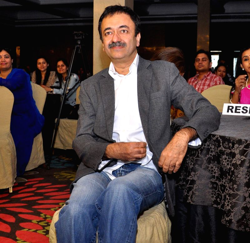 Filmmaker Rajkumar Hirani during a programme in Jaipur on Feb 14, 2015.