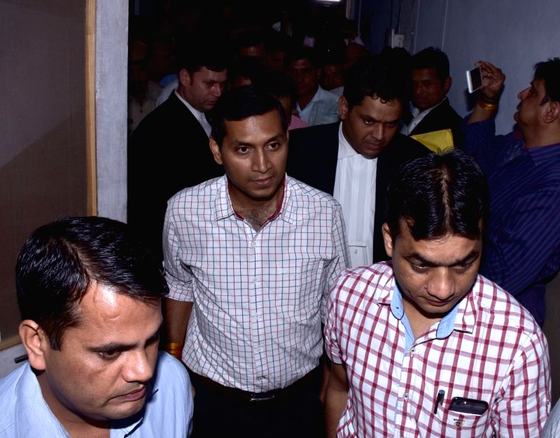 Jaipur : IAS officer Niraj K Pawan being taken to be presented before court after being arrested by Anti-Corruption Bureau  in connection with a bribery case in Jaipur, on May 31, 2016.