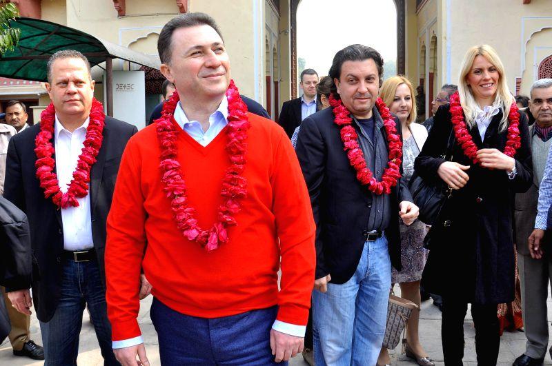 Macedonian Prime Minister Nikola Gruevski during his visit to Jaipur on Jan 15, 2015. - Nikola Gruevski