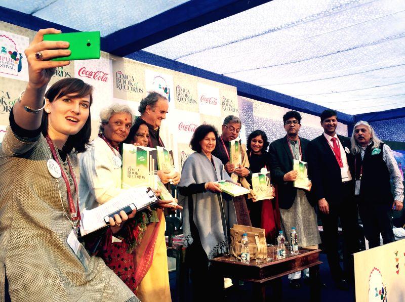 Noted writer Dr. C.S Lakshmi, Editor of Limca Book of Records Vijaya Ghose, Senior British broadcaster and writer Mark Tully, author Nayantara Sahgal, actor-playwright Girish Karnad, ... - Prasoon Joshi and Films Sanjoy Roy