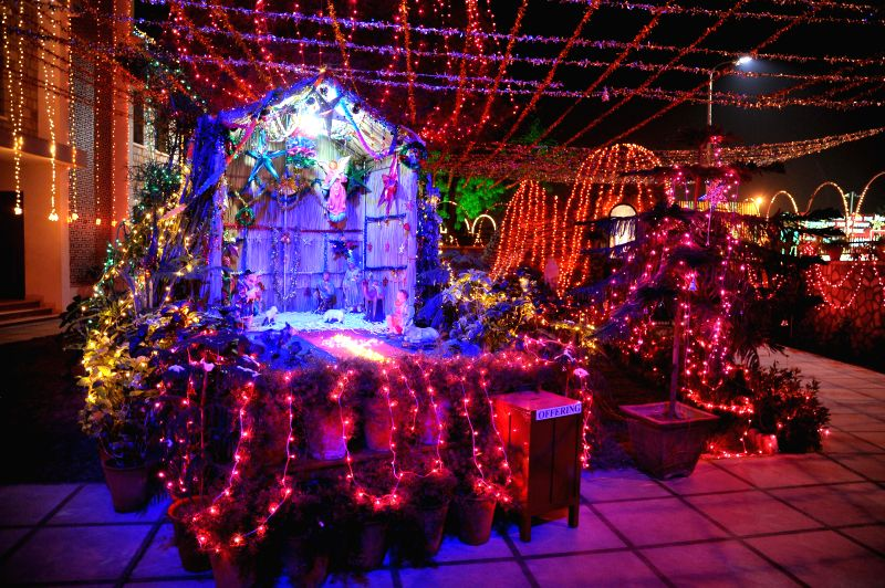 St. Xavier's Church decked up on Christmas eve in Jaipur, on Dec 24, 2014.
