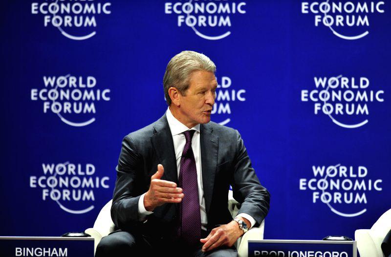 Chairman of the Board of Flextronics International, USA, H. Raymond Bingham attends the World Economic Forum on East Asia 2015 in Jakarta, Indonesia, April 21, ...