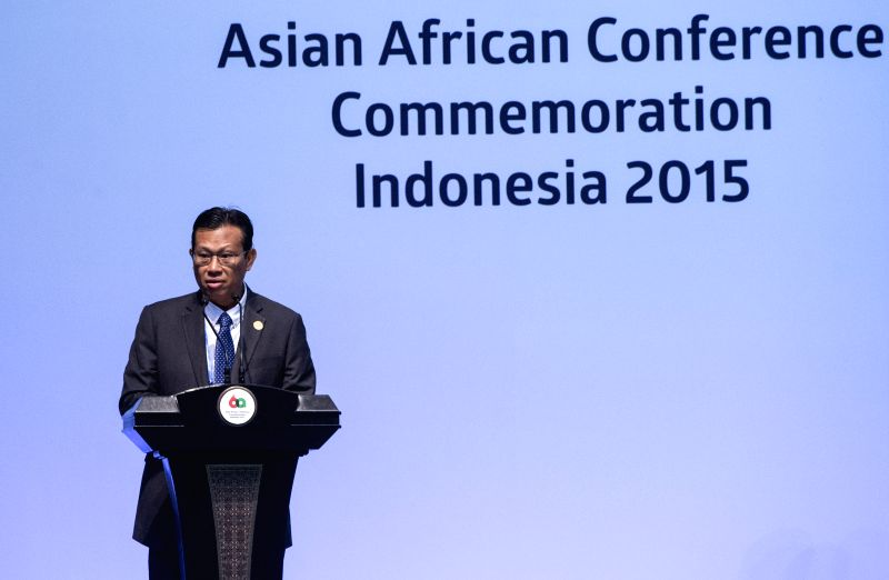 Malaysian Minister of Communication and Multimedia Ahmad Shabery Cheek addresses the Asian-African Summit 2015 in Jakarta, capital of Indonesia, April 23, 2015. ...
