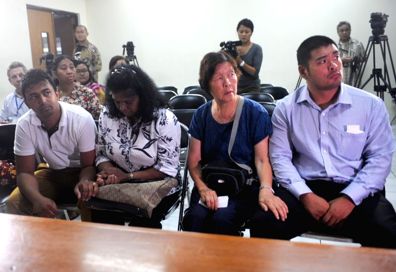 Families of death-row prisoners Myuran Sukumaran and Andrew Chan arrive to Indonesian Human Rights Organisation (Komnas HAM) office to set forth the legal battle in .