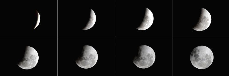 JAKARTA, Jan. 31, 2018 - Eclipse appears in the sky of Jakarta, Indonesia, on Jan. 31, 2018.