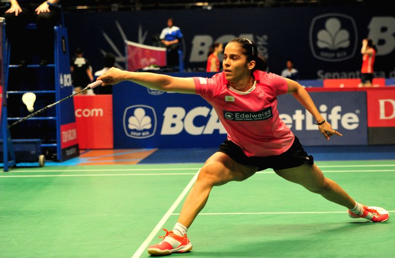JAKARTA, June 2, 2016 - Saina Nehwal of India competes against Fitriani Fitriani of Indonesia during the women's singles match at the BCA Indonesia Open badminton tournament in Jakarta, Indonesia, ...
