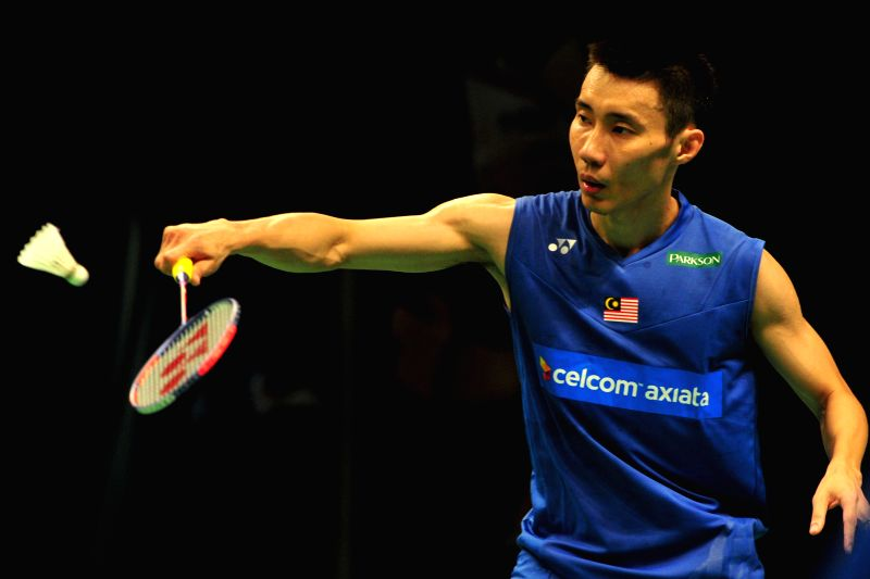 JAKARTA, June 3, 2016 - Lee Chong Wei of Malaysia competes during the men's singles quarterfinal against Wang Zhengming of China at the Indonesia Open badminton tournament in Jakarta, Indonesia, June ...