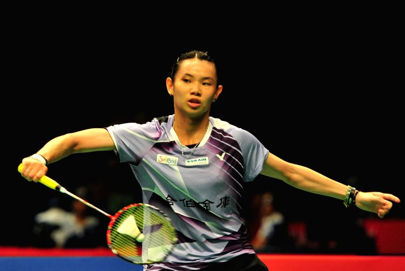 JAKARTA, June 3, 2016 - Tai Tzu Ying of Chinese Taipei competes during the women's singles quarterfinal against Nozomi Okuhara of Japan at the Indonesia Open badminton tournament in Jakarta, ...