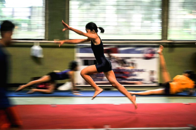 Young athletes train themselves during routine practice at Ragunan Sport center in Jakarta, Indonesia, March 7, 2015. People send their young athletes to Ragunan ...