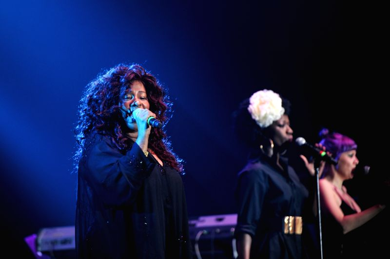 The 10-time Grammy Award-winner, Chaka Khan (L) performs during the Java Jazz Festival 2015 at Jakarta International Expo Kemayoran in Jakarta, Indonesia, March 7, ...